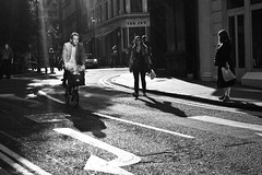 (Martino's doodles) Tags: street light blackandwhite london delete2 cyclist crossing untagged save3 ivy delete3 save7 save8 delete delete4 save save2 reflected save9 save4 pedestrians arrow save5 save10 save6 savedbythedeltemeuncensoredgroup londonist noflashcorner save11 save12 save13 gx100 hcspt ricohmeetprint yping
