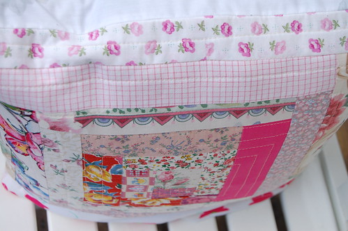 New log cabin pillowcases from scraps