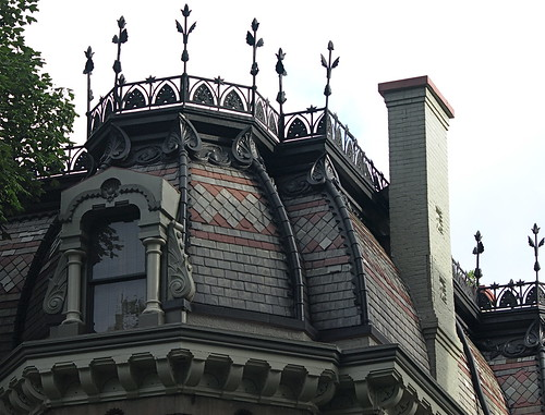 Deatail of Roof, Including Wrought Iron Tulip Garden