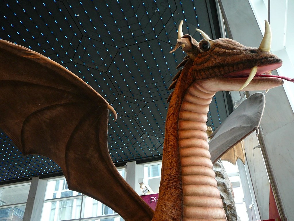 Giant plush dragon toy