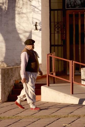Policarpio Sanchez, con el traje regional