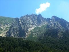 Les arêtes rocheuses vers Capu a Cuccula