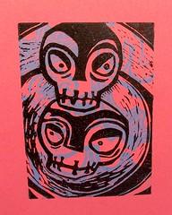 'voodoo skulls pink' - craftyhag on Flickr