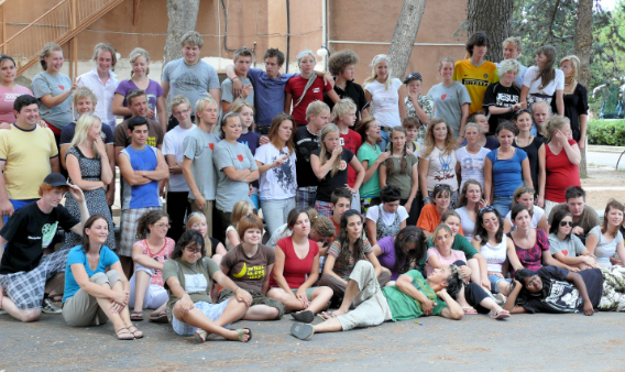 The whole bunch of crazy young people