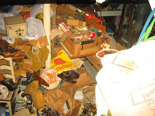 Junk filled basement