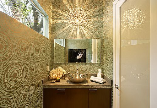 Allison Hanes Powder Room via Desire To Inspire