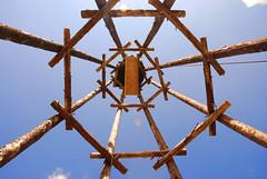 8 leged lighthouse (justmeandmy_dreams) Tags: wood blue summer sky scout holz bau pfadi terranova contura08