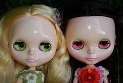 Willa and Agnetha-1 (irulethegalaxy) Tags: eve way doll sugar blythe willa angelica milky ae mws sbl agnetha rbl angelicaeve milkywaysugar