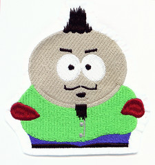 Me as Cartman, embroidered! 36/365 (fatslick70) Tags: man male art robert thread hat shirt hoop project embroidery sewing machine craft hobby jacket cap needle stitches 40 365 cartman fiber digitizing backing ackerman amann southparkcharacter wilcom solvy isacord barudan 4head isafil