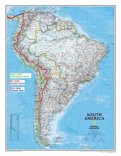Route South America