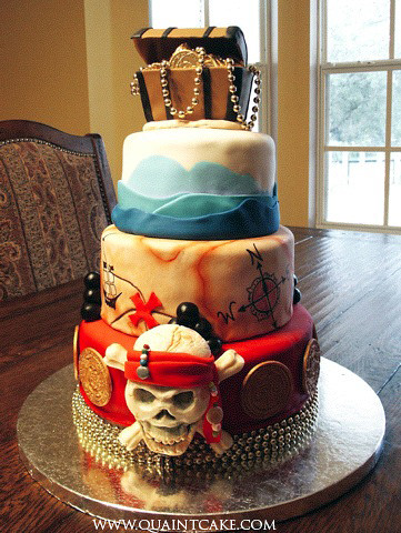 Easy to Make Pirate Cakes http://www.birthdaycakes-idea.com/pirate-cakes-for-birthday-party.html
