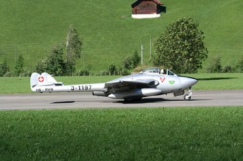 Warbird picture - De Havilland DH-100 Vampire.