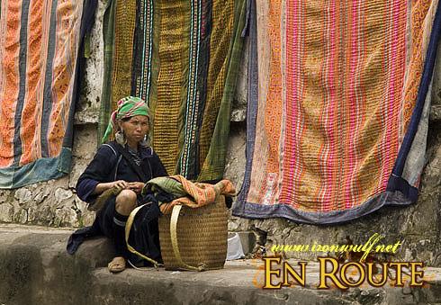 Sapa Black Hmong Textile Vendor
