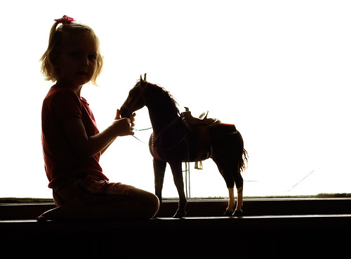 horse and daughter