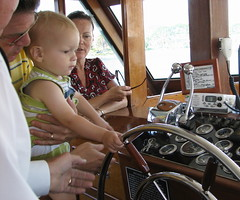 Braydon pilots the boat (odonata9) Tags: cruise boat sandiegobay upcoming:event=1038435