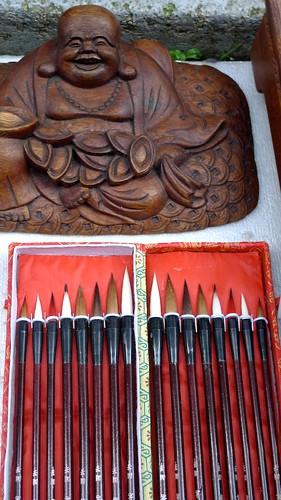 Buddha and Brushes
