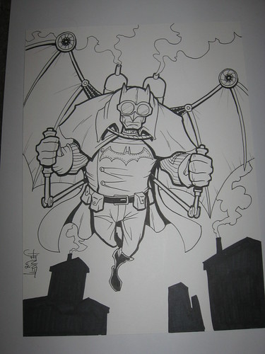 Steampunk Batman by Harold Jennett