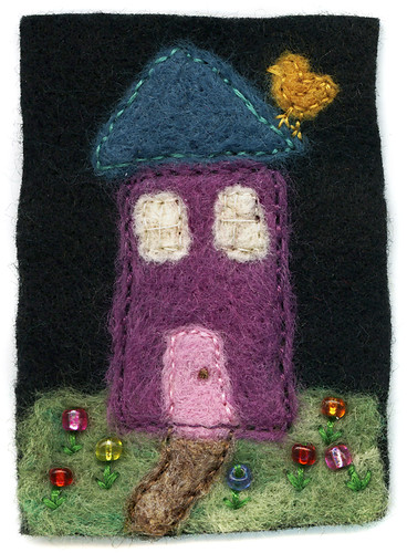 House : Felted ATC