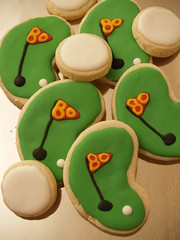 Golf Cookies (nikkicookiebaker) Tags: cutout cookie decorated