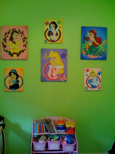 Princess paintings