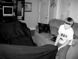 Josh Building a Tent