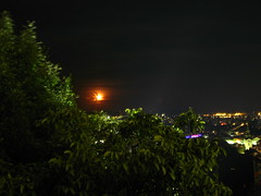 2007 07 01 - _0590 - Graz - View from Schlossberg (thisisbossi) Tags: moon night austria österreich graz moonillusion