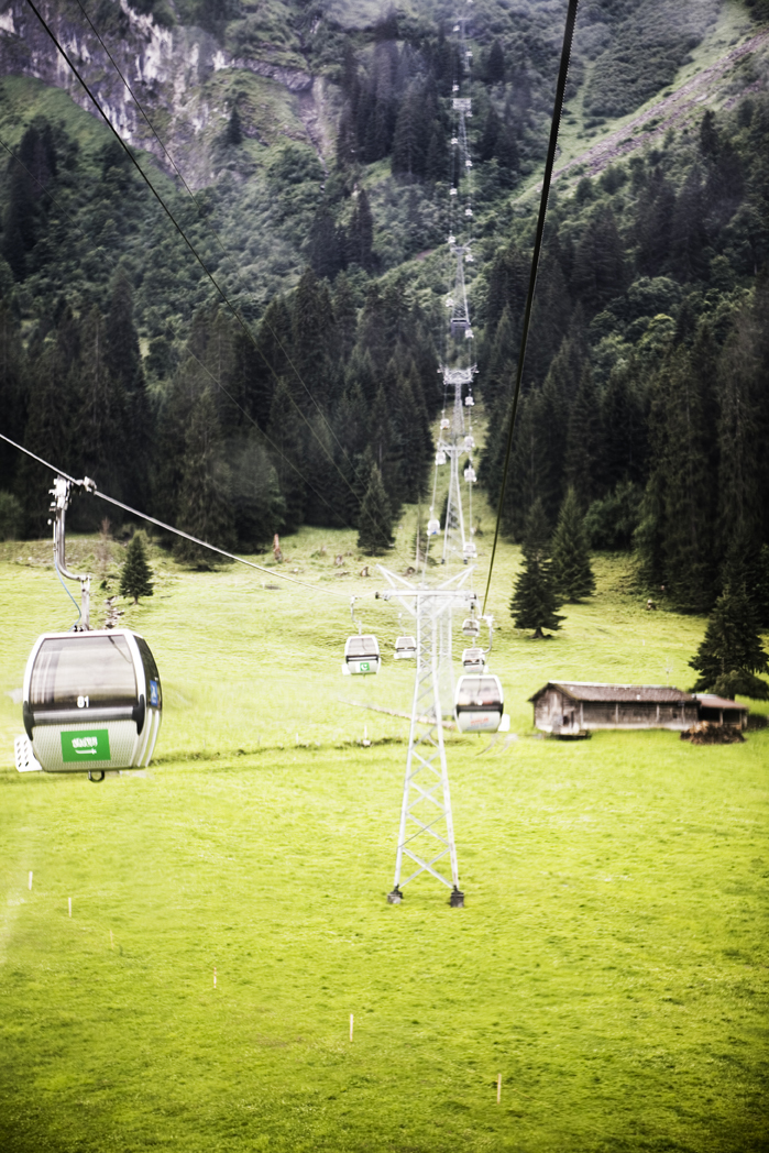 on the cable car to Mt. Titlis, Switzerland