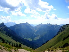 Out of the Depths (Joy A Photos) Tags: trip travel vacation sky mountain inspiration france annecy nature beauty switzerland climb geneva natural path hike trail goats savoie height montblanc southernfrance allonzierlacaille