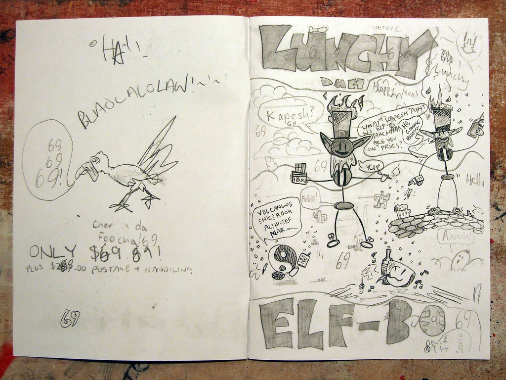 Lunchy Duh Elf-Bo! childhood zine