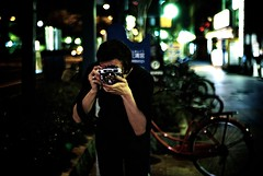 osaka: 3:09am (0bli0) Tags: street leica bike japan bokeh availablelight m8 handheld osaka 3am velco voigtlandernokton35mmf12aspherical