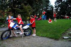 Mati and Minions copy (jellywatson) Tags: autumn fall girl yard kid jump kick bored clones multiples dirtbike clone matisse cartwheel mati sammamish glaringatherownback