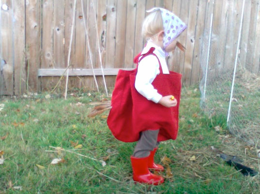 Callie as Little Red Hen