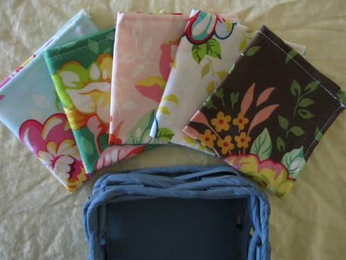 Handkerchiefs and a basket