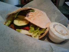 Falafel Sandwich-Powerhouse Cafe