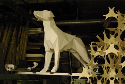 how to make a 3d dog with paper