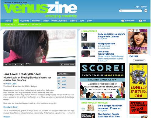 venuszine article