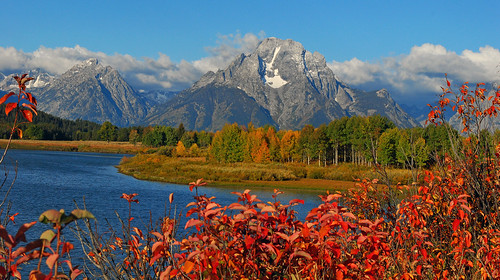 Autumn at Oxbow Bend, Grand Teton National Park - 1087b