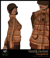 [MG fashion] Vest&Jacket (OrangeBrick)