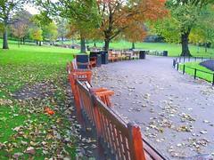 Benches, Benches, Benches... (nearthecastle) Tags: uk autumn leaves scotland edinburgh princesstreetgardens benches autumnal picnik endless shadesofautumn
