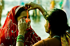 Women's Desire (Ashish T) Tags: portrait people india colors beautiful festival women colorful asia expression indian traditional group desi mumbai sari facial bihar chhath ashisht ashishtibrewal