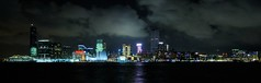 Hong Kong - Kowloon Skyline (cnmark) Tags: ocean show china cruise light panorama tower art clock ferry skyline museum architecture modern night skyscraper landscape geotagged hongkong lights noche boat museumofart ship commerce cityscape nacht centre famous scenic terminal panoramic hong kong international crop noite cropped  sha  kowloon peninsula icc nuit barge symphony  notte prudential tsimshatsui tsim tsui nachtaufnahme  liner symphonyoflights  allrightsreserved  platinumphoto aplusphoto theunforgettablepictures  winnr nikonflickraward50mostinteresting geo:lat=22284843 geo:lon=114172652