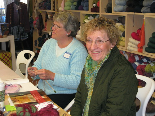 Kitty and Dottie in Louisa's workshop
