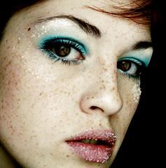Frozen (Sara_Morrison) Tags: winter ice frozen makeup freckles memorycornerportraits