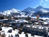 A scenic view of the Olympic Village at Sestriere, Italy