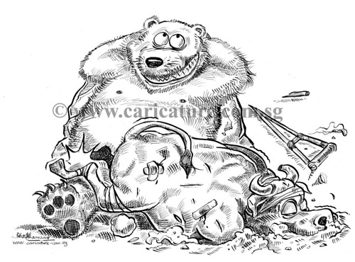 Comic strip illustration - Bear Market Rally watermark