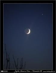 Jupiter Venus Moon Conjunction (bbusschots) Tags: ireland moon venus astrophotography astronomy jupiter maynooth kildare irishastronomy spcm