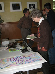 Folks purchased books from a local bookstore at KFTC fundraiser in Berea