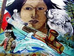 Peace Pipe (See El Photo) Tags: street city urban 15fav woman streetart man color art wall graffiti la losangeles paint grafiti dolphin indian graf pipe urbanart spraypaint graff grafite 1f faved  whitebuffalo peacepipe  seeelphoto chrislaskaris
