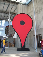 Google Map Pin marks the entry by RobiNZ, on Flickr