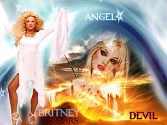 brit devil vs angel (BETHGON blends) Tags: flickr princess spears pop princesa britney blend bethgon